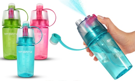One, Two or Three Sportz Water Bottles with Spray Function