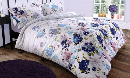 Pieridae Large Floral Reversible Duvet Set