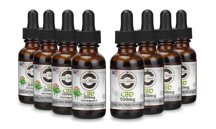 CBD Full Spectrum Tincture Hemp Oil by Live Green Hemp | Groupon