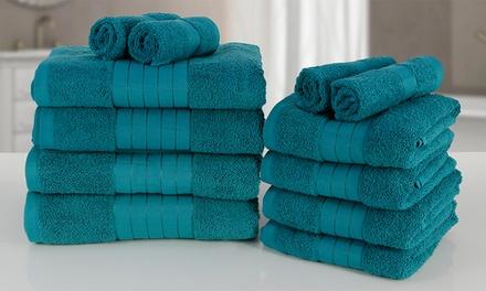 Lot de 12 Serviettes de bain en coton égyptien