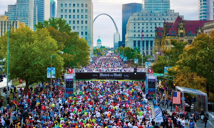 Rock 'n Roll Marathon - Kaufmann Park: Rungevity Rock 'n' Roll St. Louis 1/2 Marathon on Sunday, 10/18 at 7 a.m.