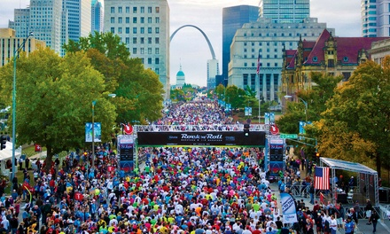 Rungevity Rock 'n' Roll St. Louis 5K on Saturday, 10/17, at 8 a.m. or 1/2 Marathon or 10K on Sunday, 10/18 at 7 a.m.