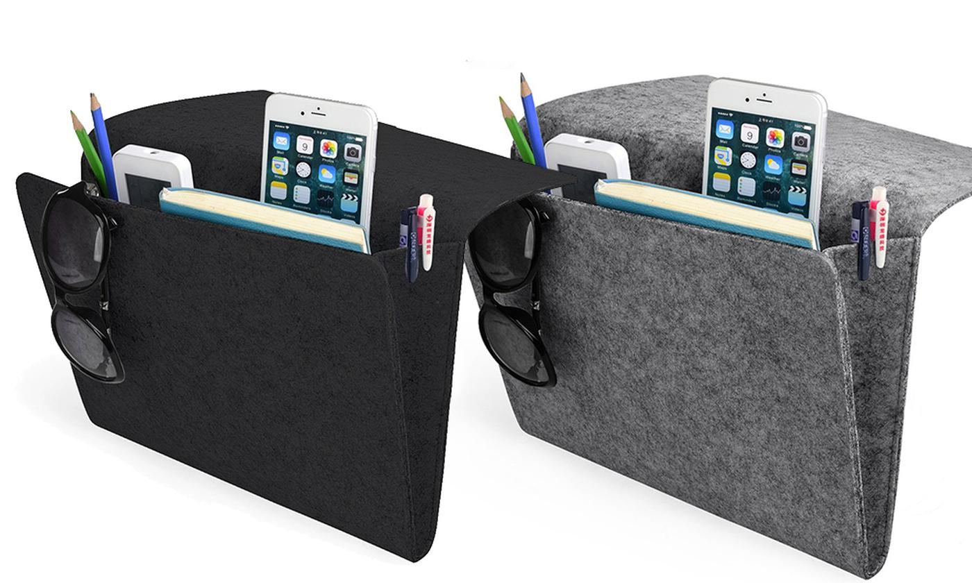 One or Two Bedside Pocket Organisers from £3.98 (73% OFF)
