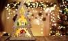 Illuminated Wooden Christmas Tree Decoration