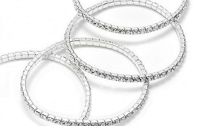 ordinare on-line bellissimo aspetto più popolare Bracciale elastico modello Tennis con 54 cristalli Swarovski® a 8,99 € (65%  di sconto)