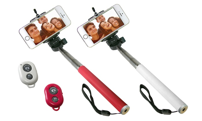 Selfie Stick with Bluetooth Remote for Smartphones: Selfie Stick with Bluetooth Remote for Smartphones