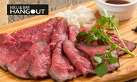 【50%OFF】人気のバルで、美味しいお肉を食べながら楽しいひと時を≪前菜や和牛ランプのローストビーフなど9品+120分飲み放題/1名分...