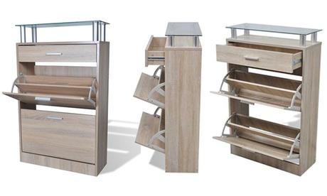 Mueble zapatero de madera con 2 o 5 compartimentos VidaXL Oferta en Groupon