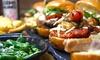 Spain-Burger-Menü inkl. Beilagen