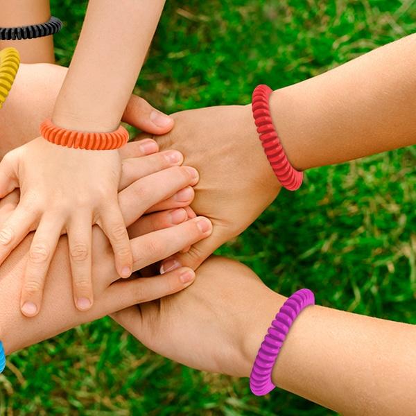 84209d078af 2, 3, 4, 5 of 10 anti-muggen armbanden in verschillende kleuren