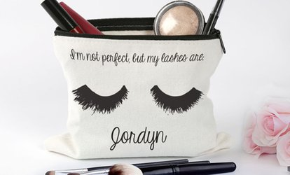 image for One or Two Personalized Makeup Bags from Monogram Online (Up to 50% Off)