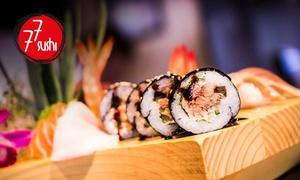 Japońska uczta degustacyjna składająca się z 4 elementów dla 2 osób za 99,99 zł i więcej w 77 Sushi – 8 lokalizacji