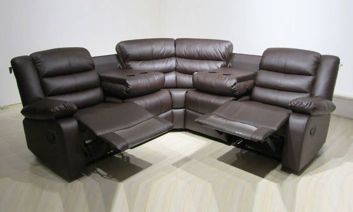 Rosie Corner Recliner Sofa | Groupon Goods