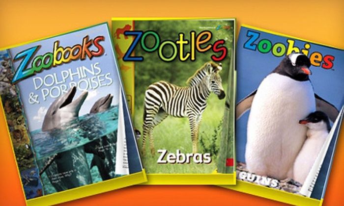 """Zoobooks,"" ""Zootles,"" or ""Zoobies"" Magazine Subscription: One- or Two-Year ""Zoobooks,"" ""Zootles,"" or ""Zoobies"" Magazine Subscription (Up to 68% Off). Free Shipping."