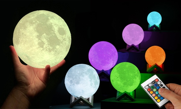 Globrite 3D.LED Lampe in Mondform in Größe und im Modell