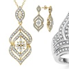 1/2 CTTW Round Diamond Pendant, Earrings, or Ring