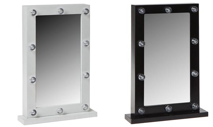 Espejos de maquillaje con luz led groupon - Espejos de tocador con luz ...
