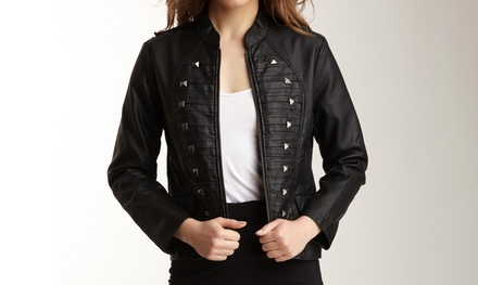 Women's Faux-Leather Jackets (Size L)