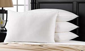 Plush Overstuffed Gel Pillow with Cotton Cover (1-, 2-, or 4-Pack)