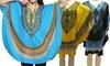Women's One Size Dashiki Poncho Tunic