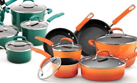 10-Piece Rachael Ray Hard Enamel Nonstick Cookware Set