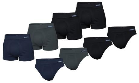 Set di 4 paia di slip o boxer Pompea da uomo disponibili in 2 colori e taglie