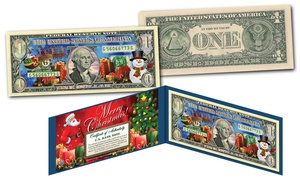 2017 Christmas Dual Silver Hologram and Polychrome One-Dollar Bill