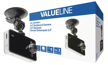 Valueline HD dashcam con accessori
