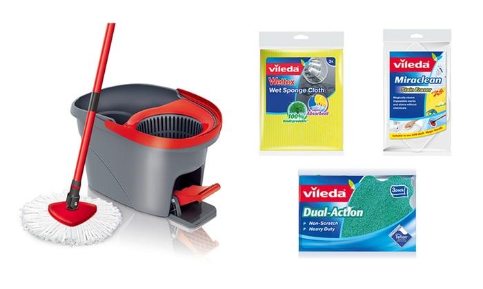 Vileda Wring Spin Mop Cleaning Bundle Groupon Goods
