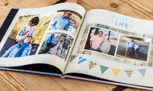 "York Photo: 20-Page 8""x8"" or 12""x12"" Custom Hardcover Book from York Photo (Up to 82% Off)"
