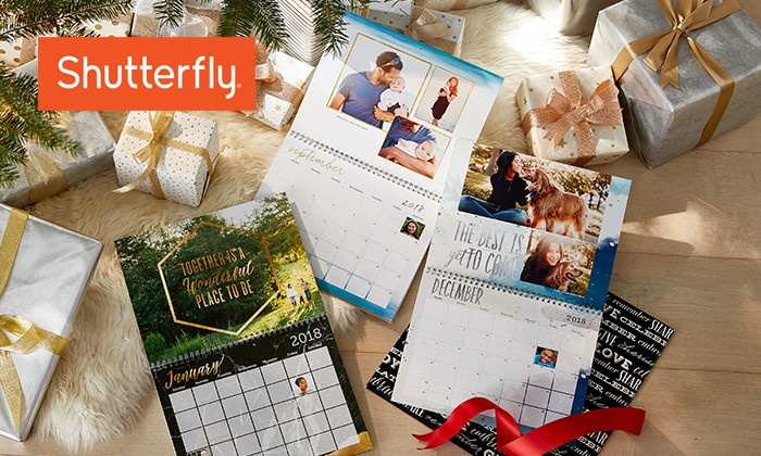 Shutterfly: 8x11 or 12x12 12-Month Wall Calendars from Shutterfly (Up to 82% Off)