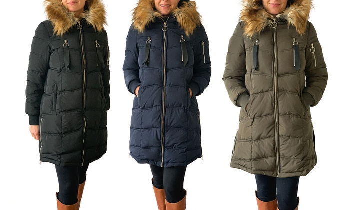 Womens Parka With Fur Lined Hood