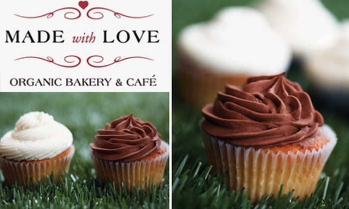 Made With Love Organic Bakery & Café - Historic Downtown: $16 for One Dozen Cupcakes from Made With Love Organic Bakery & Café ($35 Value)