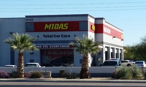 Midas: Full-Service Oil-Change Package at Midas (73% Off). 15 Locations Available.