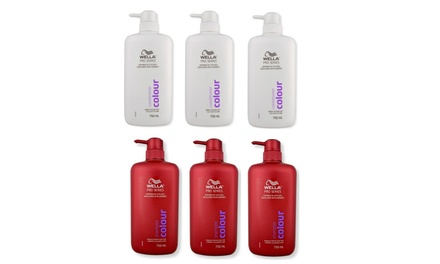 $29 for Six Bottles of Wella Pro Series Colour 750ml Shampoo or/and Conditioner Don't Pay $52.80