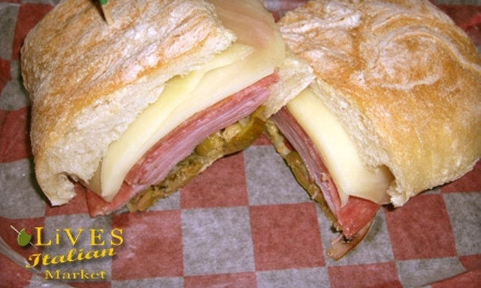 Olives Italian Market - Downtown New Braunfels: $5 for $10 Worth of Italian Sandwiches, Drinks, and Deli Goods at Olives Italian Market