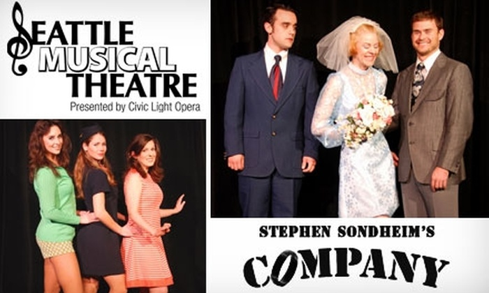 "Seattle Musical Theatre - View Ridge: $15 Ticket to ""Company"" by Seattle Musical Theatre ($30 Value). Buy Here for Friday, February 26, at 8 p.m. Click Below for Additional Dates and Times."