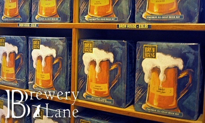 Brewery Lane - Multiple Locations: $20 for $40 Worth of Wine and Beer Making Merchandise from Brewery Lane