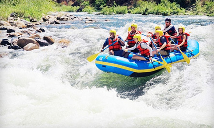 Down The Mountain Whitewater Rafting - Mill City: Half-Day Whitewater-Rafting Trip for Two or Four from Down The Mountain Whitewater Rafting in Mill City (Up to 53% Off)