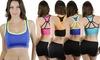 Women's Strappy Padded Racerback Sports Bras (4-Pack): Women's Strappy Padded Racerback Sports Bras (4-Pack)