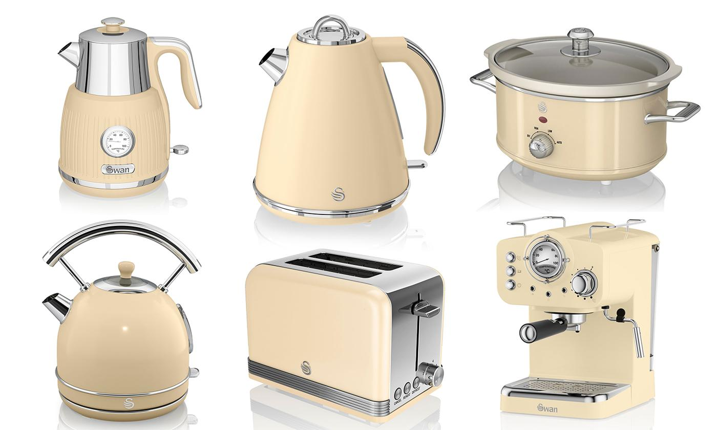 Swan Retro-Style Kitchen Collection (Cream)