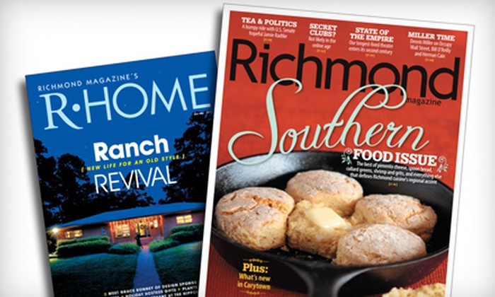 """""""Richmond"""" Magazine & """"R-Home"""" Magazine - East Highland Park: $14 for a Two-Year Subscription to """"Richmond"""" and """"R-Home"""" Magazines ($26 Value)"""