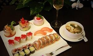 QQ-Fusion GmbH: 3-Gänge-Sushi-Menü für 2 Personen inkl. Begrüßungssekt bei QQ-Fusion GmbH (50% sparen*)