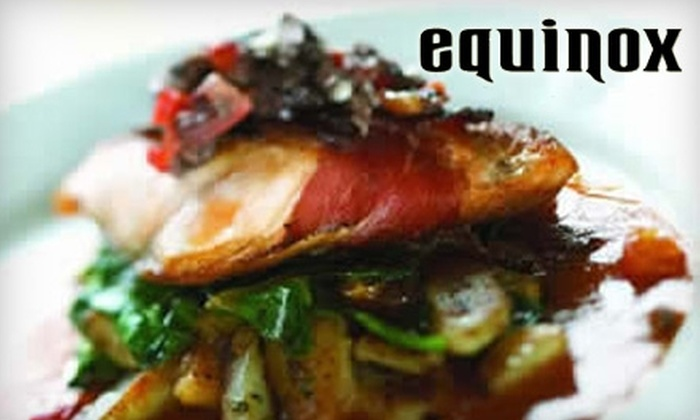 Equinox Restaurant and Bar - Boise: $12 for $25 Worth of Seasonal Dinner Fare at Equinox Restaurant and Bar (or $6 for $12 Worth of Breakfast or Lunch)