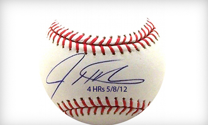 Powers Collectibles: $199 for a Commemorative Josh Hamilton Autographed Baseball with Shipping from Powers Collectibles ($458.95 Value)