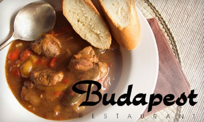 Budapest Restaurant - Ottawa: $9 for $18 Worth of Traditional Hungarian Fare and Drinks at Budapest Restaurant