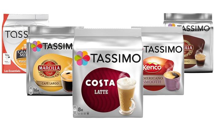 Groupon Goods Global GmbH: Pack de 5 sachets de capsules Tassimo en différentes saveurs