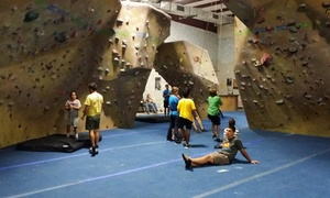 Space City Rock Climbing: Rock-Climbing Pass with Equipment Rental for One, Two, or Four at Space City Rock Climbing (Up to 52% Off)