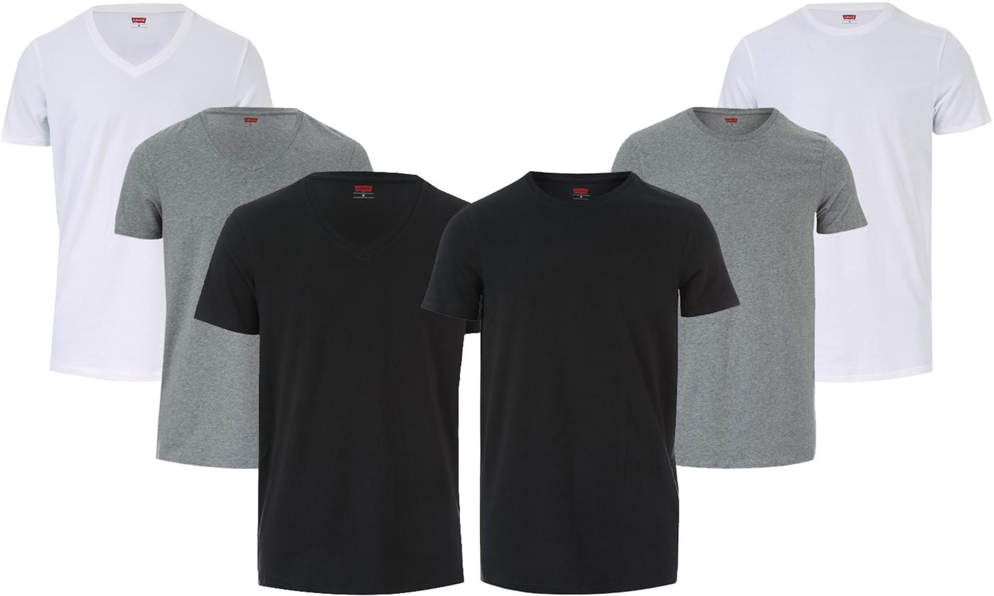 Two-Pack of Levi's Men's Crew- or V-Neck T-Shirts