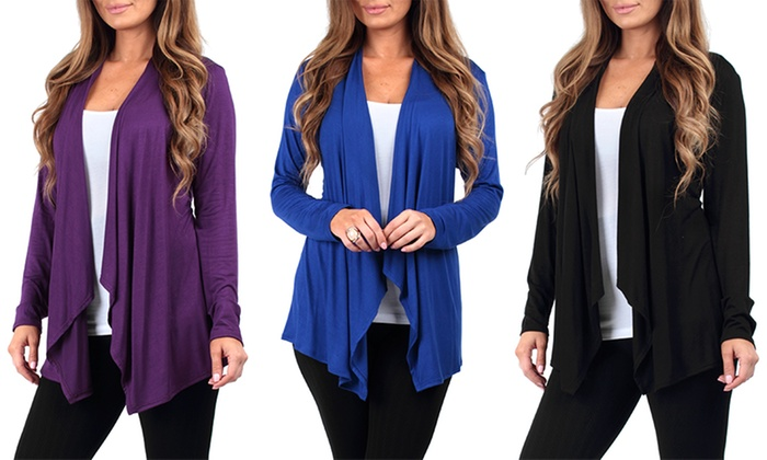 Women's Lightweight Draped Cardigans (2-Pack)